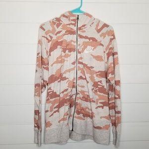 Nike Camo Print Hooded Jacket XL